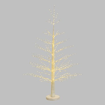 1.60m White Pine Tree Lights, 750 Warm White MicroLEDs