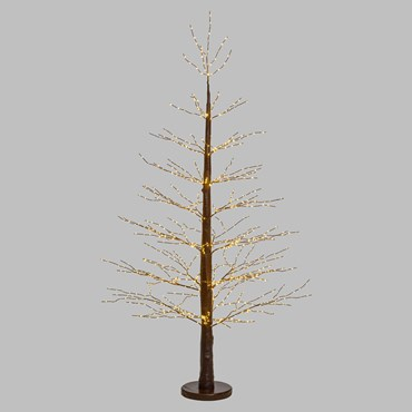 Árbol luminoso marrón Micro Led h. 1,9m