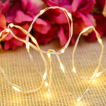 25m 500 Warm White MicroLEDs String Lights, White Metal Wire, MicroLEDs Pro Series