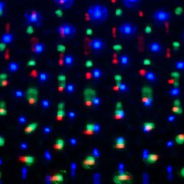Projecteur lumineux chute de neige points blanc froid et multicolor