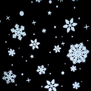 Gobo Effet chute de neige,  Ø105 mm, Blanc