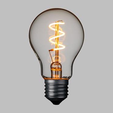 VINTAGE LED 36V, LED Filament Spiral Birne warmweiß, Ø 60 mm, E27 Fassung