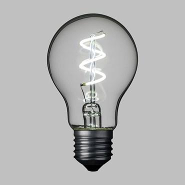 Ampoule goutte Ø60 mm en verre, filament led en spirale, 36V, E27, blanc froid