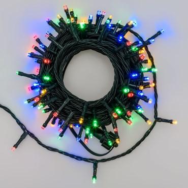 Guirlande lumineuse Smart Connect, 10 mètres, 100 led multicolor, câble vert, prolongeable