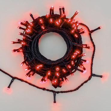 Guirlande lumineuse Smart Connect, 10 mètres, 100 led rouge, câble vert, prolongeable