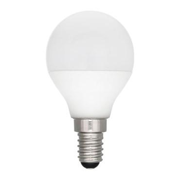 Vintage LED Globo Birne aus weißem Kunststoff, Ø 45 mm, E14, warmweiß, 1W, 12V