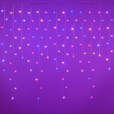 Stalattite WONDER luci colorate 3,15 x h 1,1 m, 175 LED RB e bianco caldo, cavo bianco, prolungabile