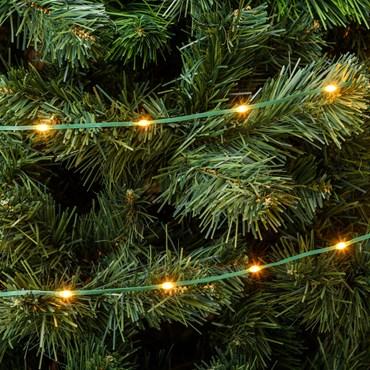 Guirnalda Gotas de Luz de 15 m, 200 led ultra luminosos blanco extra cálido, cable verde