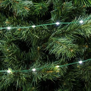 Catena Gocce di Luce da 15 m, 200 Led ultra luminosi bianco freddo, cavo verde