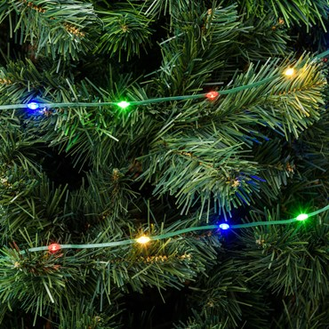 Guirnalda Gotas de Luz de 15 m, 200 led ultra luminosos multicolor, cable verde