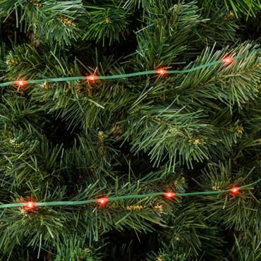Guirlande Gouttes lumineuses de 30 m, 400 Led haute luminosité rouge, câble vert