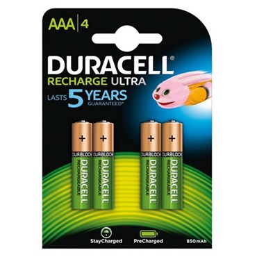 4 Pilas recargables AAA Duracell DU75