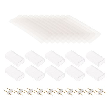 10 Connettori di giunzione per tubo luminoso Neon bifacciale