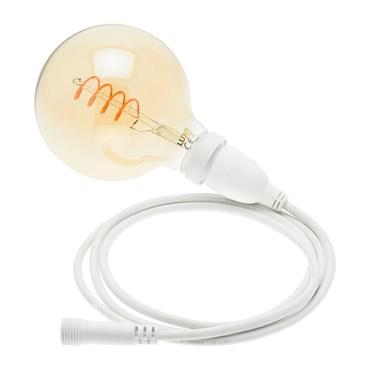 Suspension Vintage Spiral LED Bulb Light, Ø 125mm, 4m White Cable, Vintage Led Pro Series