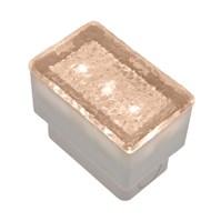 Mattonella Led bianco caldo, 0,25W, 50 x 80 mm