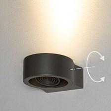 Lampada da parete, applique led bianco caldo, 6 W, orientabile, color grafite, uso esterno