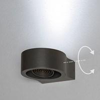 Lampada da parete, applique led bianco freddo, 6 W, orientabile, color grafite, uso esterno