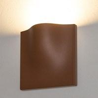Lampada da parete, applique led bianco caldo, 15 W, color ruggine, uso esterno