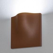 Lampada da parete, applique led bianco freddo, 15 W, color ruggine, uso esterno