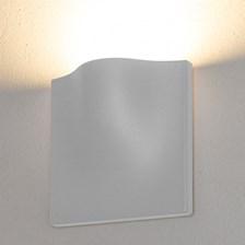 Lampada da parete, applique led bianco caldo, 15 W, colore bianco, uso esterno