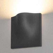 Lampada da parete, applique led bianco caldo, 15 W, color grafite, uso esterno