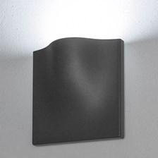 Lampada da parete, applique led bianco freddo, 15 W, color grafite, uso esterno