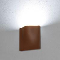 Lampada da parete, applique led bianco freddo, 7 W, color ruggine, uso esterno