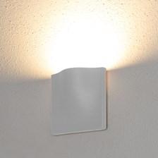 Lampada da parete, applique led bianco caldo, 7 W, colore bianco, uso esterno