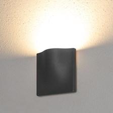 Lampada da parete, applique led bianco caldo, 7 W, color grafite, uso esterno