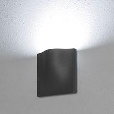 Lampada da parete, applique led bianco freddo, 7 W, color grafite, uso esterno