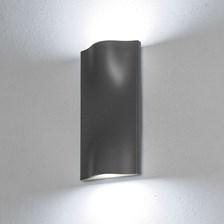 Lampada da parete, applique led bianco freddo, 14 W, color grafite, uso esterno