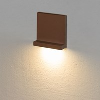 Faro da incasso a parete, segnapasso led bianco caldo, 3 W, color ruggine, uso esterno