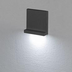 Faro da incasso a parete, segnapasso led bianco freddo, 3 W color grafite, uso esterno