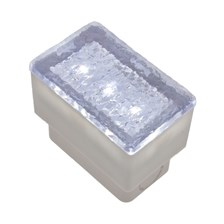 Mattonella LED bianco, 0,25W, 50 x 80 mm