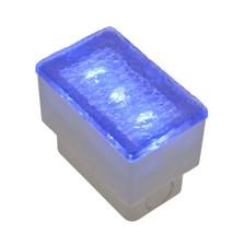 Mattonella LED blu, 0,25W, 50 x 80 mm