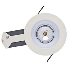 Faro da incasso a LED bianco caldo, 10W, ghiera panna