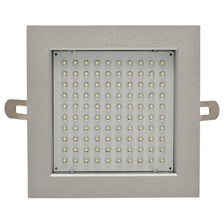 Faro da incasso a LED bianco, 8W, ghiera quadra grigia