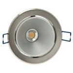 Faro da incasso a LED bianco, 10W, orientabile, ghiera grigio acciaio