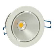 Faro da incasso a LED bianco, 10W, orientabile, ghiera bianca