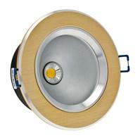 Faro da incasso a LED bianco caldo, 10W, ghiera rame