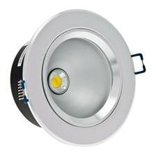 Faro da incasso a LED bianco, 10W, ghiera grigio chiaro
