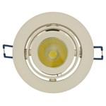 Faro da incasso a LED bianco caldo, 13W, orientabile, ghiera panna