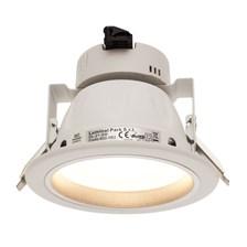 Faro da incasso a LED bianco caldo, 8W, ghiera bianca
