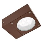 Lampada da parete, applique LED bianco, 6W, colore ruggine, uso esterno