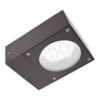 Lampada da parete, applique LED bianco, 6W, colore grafite, uso esterno