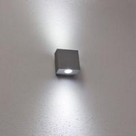 Lampada da parete, applique LED bianco freddo, 2W, colore grigio chiaro, uso esterno