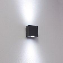 Lampada da parete, applique LED bianco freddo, 2W, colore grafite, uso esterno