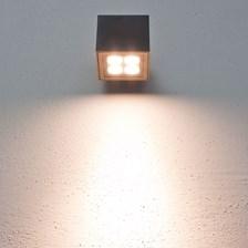 Lampada da parete, applique LED bianco caldo, 8W, color grafite, uso esterno