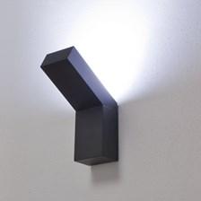 Lampada da parete, applique LED bianco, 9W, color grafite, uso esterno