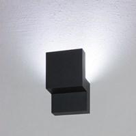Lampada da parete, applique LED bianco freddo, 12W, color grafite, uso esterno